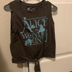 Disney Alice in Wonderland Knot Muscle Tank Tee